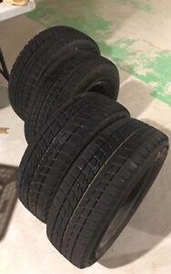 almost brand new tires!!185/65/14  Blizzak Ice