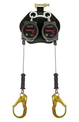 Guardian Fall Protection 11076 Diablo Twin Self Retracting Lifeline Cable Rebar