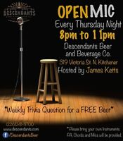 Open Mic Night at Descendants Beer and Beverage Co