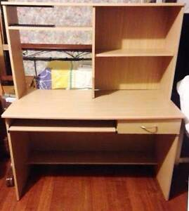 Large Study Desk with Pull out Keyboard Tray Burwood East Whitehorse Area Preview