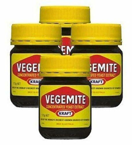 VEGEMITE (Yeast Extract) - 220g Jar - (Pack of Four) BBE Feb 18, 2021