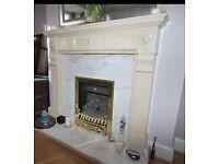 Fire Surround - Cream marble effect