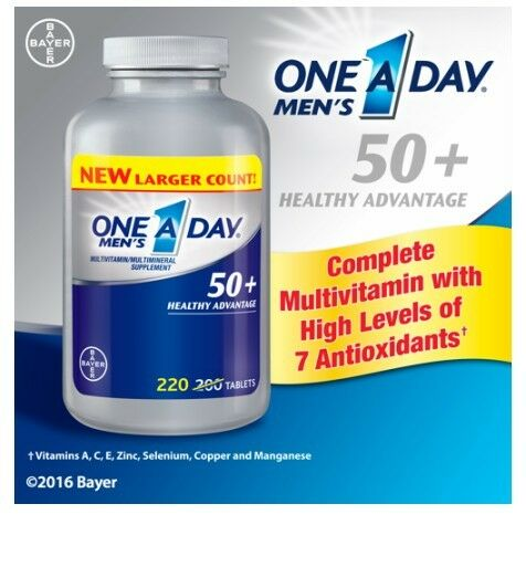 One-A-Day Mens 50+ Multivitamin/multimineral Supplements ...
