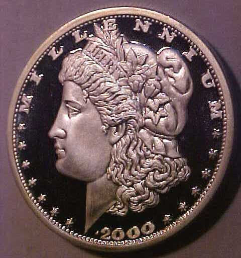 2000 Liberia ~Cameo Proof *Morgar Silver Dollar ~Limited mintage ☆Make An Offer☆