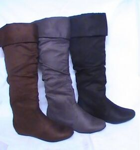 Womens-Over-the-Knee-High-Suede-Slouchy-Boots-2605