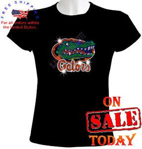 Florida gators rhinestone t shirt sexy bling cute uf black for Florida gators the swamp shirt