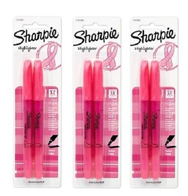 6pk Sharpie Accent Pocket Style Highlighter W Ribbon Chisel Tip Pink 1741909