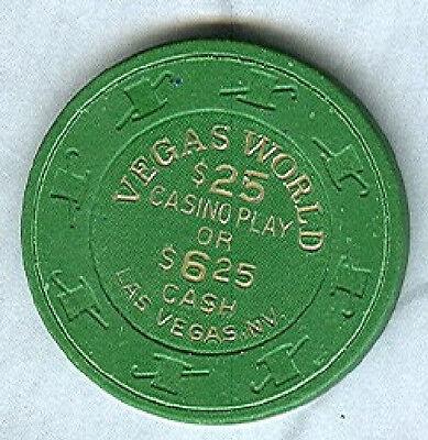 Vegas World Casino  Las Vegas    6 25  25 Chip   Green   V3581   Avg
