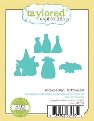 TAYLORED EXPRESSIONS   Tag-a-long Halloween Dies   TE652 - Halloween Expressions