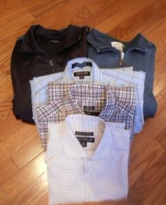 TWO MEN'S  LIGHT SPRING  JACKETS     THREE  SHIRTS