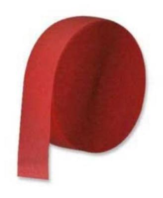 Red Crepe Streamer 1/pk 500ft/pk # - Red Streamers
