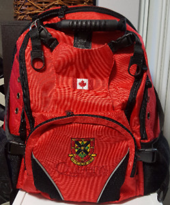 backpack with Queen's U logo from the campus bookstore - NEW!