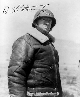 General GEORGE S. PATTON - Repro-Autogramm 20x24cm Großfoto, signed autograph