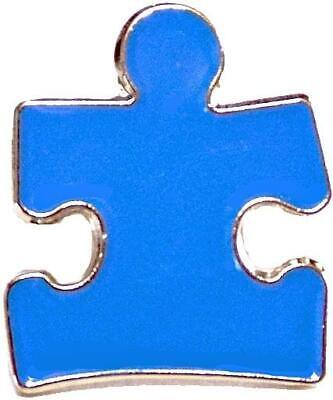 Blue Puzzle Piece Pin (Autism Awareness Puzzle Piece Blue Lapel Hat Pins Raise Awareness Single)