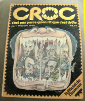 1st Edition of the french CROC magazine