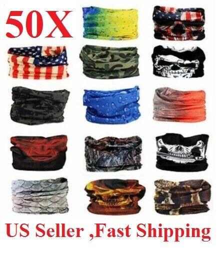 wholesale rreusable 50 Face Mask Sun Shield  Gaiter Balaclava  Bandana Headband Clothing, Shoes & Accessories