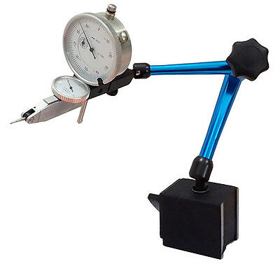 Magnetic Base 0.0005 Test Indicator And 0.001 Dial Indicator Fine Adjustment
