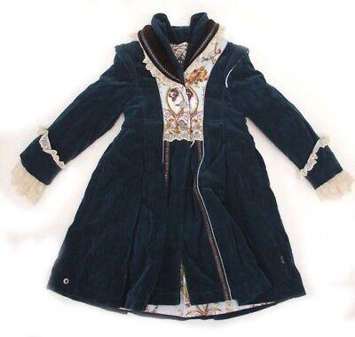 Jottum Rembrandt Prussian Blue Velvet Bellini Coat, Rembrandt Dress & Tights ()
