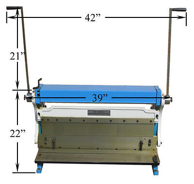 30 X 20 Gauge Sheet Metal Shear Finger Pan Box Brake Bender Slip Roll Roller