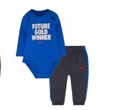 Nike Baby Boy Bodysuit Set FUTURE GOLD WINNER 0-3 Mo. ()