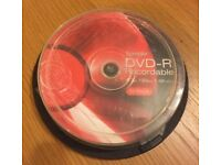 10 DVD Recordable worth £10