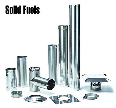 304L 24 Guage Rigid Chimney Liner Tee Kits For Solid Fuel Applications Solid Fuel Chimney