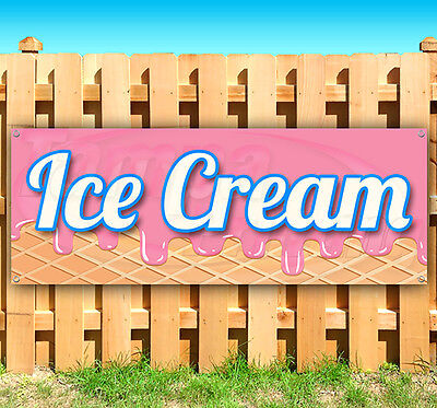Ice Cream Advertising Vinyl Banner Flag Sign Many Sizes Available Usa