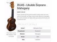 Mahogany and Rosewood Brunswick Ukulele. Brand New. Perfect Condition