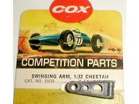 No.16039 NOS Cox Vintage 1//24 Scale Cheetah Slot Car Short Swinging Arm Cat