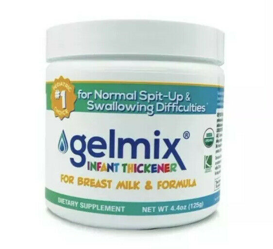 USDA ORGANIC GELMIX 125g JAR Infant Thickener 4.4 oz - Expires 07/2023