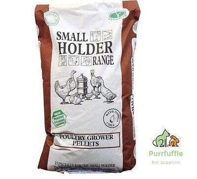 20KG ALLEN & PAGE SMALL HOLDER RANGE POULTRY GROWER PELLETS CHICKEN BANTAM FOOD