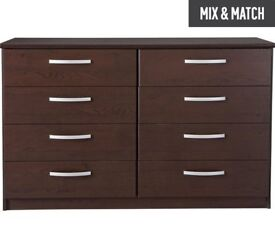 Ex-display Hallingford 4+4 Drawer Chest - Wenge Effect