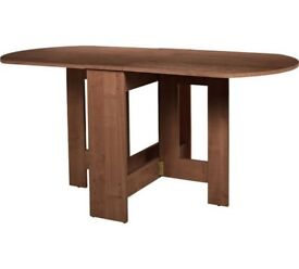 Folding dining Butterfly table Gateleg Extendable 4 - 6 Seater Table - Walnut