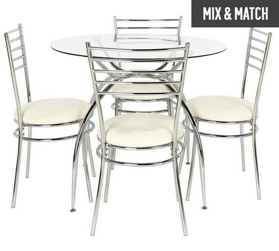 Argos Price 179 99 Home Lusi Glass Dining Table And 4 Chairs