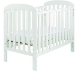 Eastcoast Anna dropside cot in white with mattress