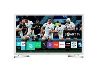 WHITE SAMSUNG 32 INCH SMART TV. EXCELLENT CONDITION. Available from 27/04/2018