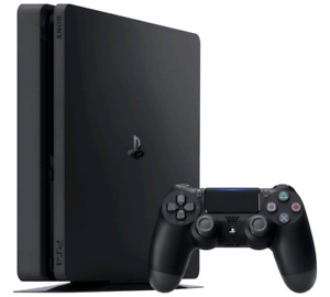 Playstation 4 with two controllers
