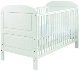 East coast cot bed with little green sheep Mattress and Mattress protector