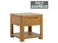 Weymouth 1 Drawer Lamp Table - Solid Wood