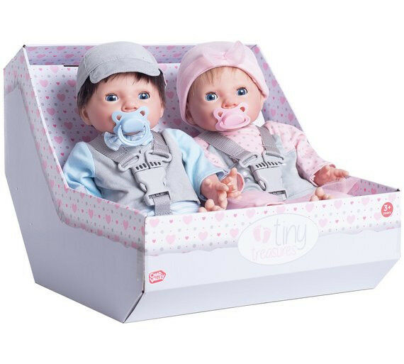 Chad Valley Tiny Treasures Twin Babies Bumper Set BNIB