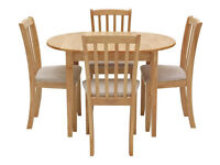 Fully assembled Banbury Extendable Table & 4 Chairs - Cream