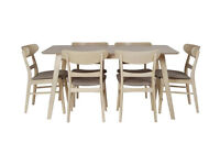 Heart of House Afina Dining Table and 6 Chairs - Oak Veneer
