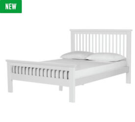 Aubrey Small Double Bed Frame - White