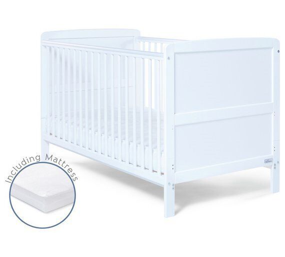 purchase cheap 66036 2f9e1 White cot bed, only 6 months old, from Argos, fixed cot sides can be  removed to form a bed   in Armley, West Yorkshire   Gumtree
