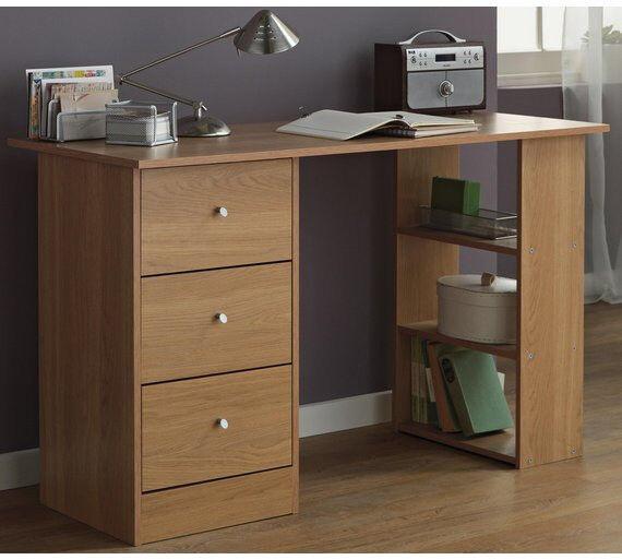 Drawer Desk - Maple Effect