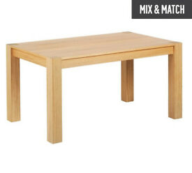 Heart of House Alston Oak Veneer 4 - 6 Seater Table
