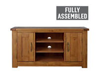 Fully assembled Harvard Low Sideboard TV Unit - Solid Pine