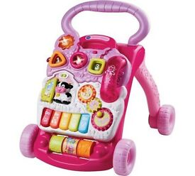 Vtech first steps Baby Walker Girls Pink with Phone