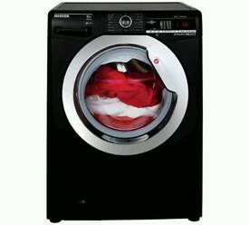 NEW GRADED:::HOOVER DXOA48C3B 8KG 1400 SPIN WASHING MACHINE - BLACK WITH 12 MONTHS WARRANTY