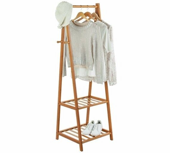 ARGOS - Bamboo Half Size Clothes Rail - Belvoir Collection - RRP£45